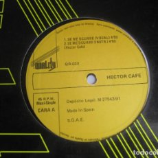 Discos de vinilo: HECTOR CAFÉ – SE ME OCURRE - MAXI SINGLE QUALITY 1991 - SALSA BACHATA LATIN 90'S - LEVE USO DJ. Lote 295592158