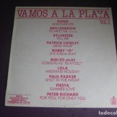 Discos de vinilo: VAMOS A LA PLAYA VOL. 1 - LP HISPAVOX PROMO 1983 - DISCO ELECTRONICA 80'S - KANO - COWLEY - BOBBY O. Lote 295593588