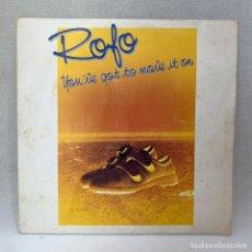 Discos de vinilo: SINGLE ROFO - YOU'VE GOT TO MOVE IT ON - ESPAÑA - AÑO 1984. Lote 295595483