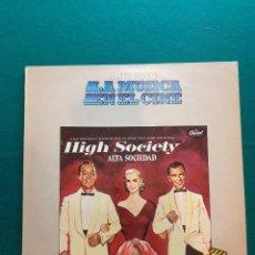 Discos de vinilo: HIGH SOCIETY- HISTORIA DE LA MUSICA EN EL CINE- LP BELTER DE 1982. Lote 295608208