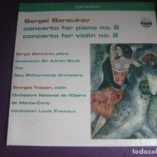 Disques de vinyle: SERGEI BARSUKOV – CONCERTO PIANO NO 2 / CONCERTO VIOLIN NO 2 - LP EVEREST PRECINTADO - CONTEMPORANEA. Lote 295609358