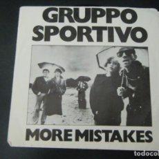 Discos de vinilo: SINGLE VINILO DE LA BANDA GRUPPO SPORTIVO. Lote 295609653