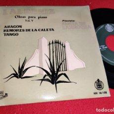 Discos de vinilo: ALICIA DE LARROCHA PIANO VOL.5 ARAGON/TANGO/RUMORES DE LA CALETA EP 1959 HISPAVOX SPAIN ALBENIZ. Lote 295614673