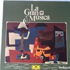 Discos de vinilo: L.P. LA GRAN MÚSICA 10- LAS NUEVAS FRONTERAS, DE MAHLER A SCHÖNBERG.CON 6 DISCOS.. Lote 295618218