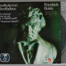 Discos de vinilo: LP. GULDA. 33 VARIACIONES SOBRE UN VALLS DE DIABELLI IO 120. BEETHOVEN. Lote 295620278
