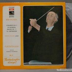 Discos de vinilo: LP. BEETHOVEN. CONCIERTO N 5 OP. 73 EMPERADOR. EDWIN FISCHER. FURTWANGLER. Lote 295621503