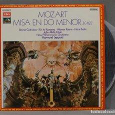 Discos de vinilo: LP. MOZART. MISA EN DO MENOR K 427. LEPPARD. Lote 295622813