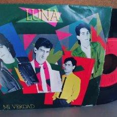 Discos de vinilo: LUNA-SINGLE MI VERDAD. Lote 295623043