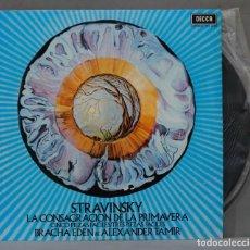 Discos de vinilo: LP. STRAVINSKY. LA CONSAGRACION DE LA PRIMAVERA. TAMIR. Lote 295623488