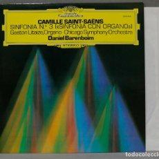 Discos de vinilo: LP. SAINT-SAENS. SINFONIA 3. BARENBOIM. Lote 295623753