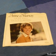 Discos de vinilo: BOXX129 DISCO 7 PULGADAS USA ESTADO DECENTE ANNE MURRAY I JUST FALL IN LOVE AGAIN / JUST TO FEEL... Lote 295624593