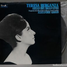 Discos de vinilo: LP. TERESA BERGANZA. ARIAS DEL SIGLO XVIII. GIBSON. Lote 295624603