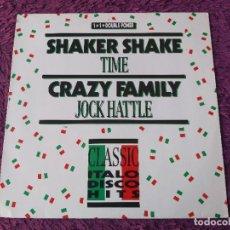 """Discos de vinilo: TIME / JOCK HATTLE – SHAKER SHAKE, VINYL 12"""" 1988 GERMANY B.C. 12-2065-40. Lote 295625203"""