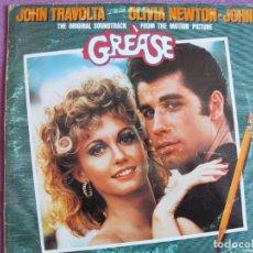 Discos de vinilo: LP - GREASE - BANDA SONORA ORIGINAL (VARIOS) (DOBLE DISCO, SPAIN, POLYDOR RECORDS 1978)CON ENCARTES. Lote 295625798