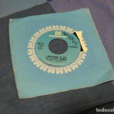 Discos de vinilo: BOXX129 DISCO 7 PULGADAS USA ESTADO DECENTE THE HILLSIDE SINGERS I'D LIKE TO TEACH THE WORLD TO SING. Lote 295626478
