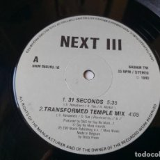 "Discos de vinilo: NEXT III – 31 SECONDS, VINYL 12"" BELGIUM 1993 SNM 080393.10. Lote 295627323"