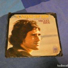 Discos de vinilo: BOXX129 DISCO 7 PULGADAS USA ESTADO DECENTE MIGUEL RIOS A SONG OF JOY / EL RIO. Lote 295627453