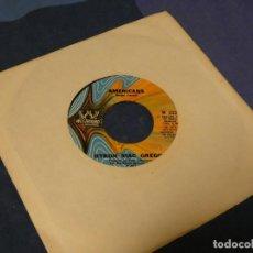Discos de vinilo: BOXX129 DISCO 7 PULGADAS USA ESTADO DECENTE AMERICA THE BEAUTIFUL / AMERICANS. Lote 295627778