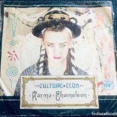 Discos de vinilo: 'KARMA CHAMELEON', DE CULTURE CLUB. POP-ROCK. SINGLE VINILO 2 TEMAS. ARIOLA. 1983.. Lote 295629983