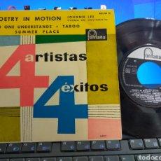 Discos de vinilo: 4 ARTISTAS 4 ÉXITOS EP JOHNNIE LEE,VALERIE MASTERS,ROY YOUNG,JACKIE RAE ESPAÑA 1961. Lote 295635593