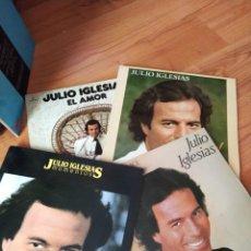 Discos de vinilo: JULIO IGLESIAS LOTE 4 LP . MOMENTOS..HEY.....1100BEL AIR..EL AMOR. Lote 295648443