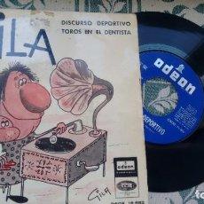 Discos de vinilo: SINGLE (VINILO) DE GILA AÑOS 60. Lote 295683693