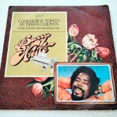 Discos de vinilo: VINILO SINGLE DE BARRY WHITE. ANY FOOL COULD SEE. 1979.. Lote 295683933