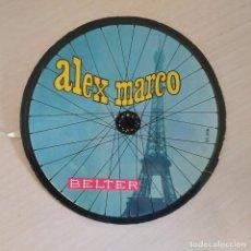 Discos de vinilo: ALEX MARCO - ES EL BICYCLE / LA VUELTA A FRANCIA +2 RARO EP DE VINILO DE 1966 CON LA CARPETA REDONDA. Lote 295691078