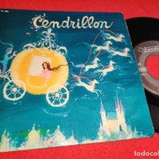 Discos de vinilo: LA COMPAGNIE DU TOURNE CONTE + JACQUES FABBRI CENDRILLON 7'' SINGLE VISADISC FRANCIA FRANCE. Lote 295695993