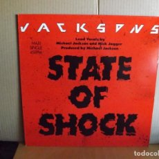 Discos de vinilo: JACKSONS --- STATE OF SHOCK ---- MAXI SINGLE. Lote 295696018