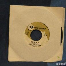 Discos de vinilo: BOXX129 DISCO 7 PULGADAS USA ESTADO ROY ORBISON / THE CROWD. Lote 295696398