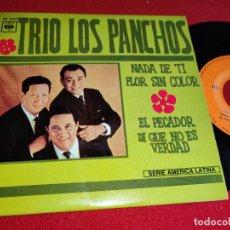Discos de vinilo: TRIO LOS PANCHOS NADA DE TI/FLOR SIN COLOR/EL PECADOR/DI QUE NO ES VERDAD EP CBS FRANCIA FRANCE EX. Lote 295698203