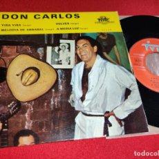 Discos de vinilo: DON CARLOS YIRA YIRA/VOLVER/MELODIA DE ARRABAL/A MEDIA LUZ EP TYPIC FRANCIA FRANCE TANGO LATIN. Lote 295699678