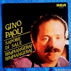 Discos de vinilo: SAPORE DI SALE - GINO PAOLI. Lote 295700323