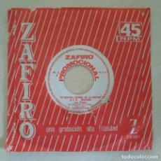Discos de vinilo: LOS PLATA - FIESTA FLAMENCA / MI CASCABELITO SINGLE ZAFIRO PROMOCIONAL 1964 6º FESTIVAL BENIDORM. Lote 295700468