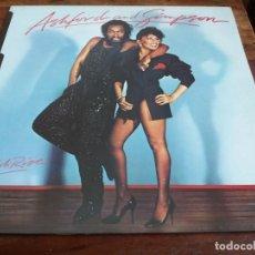 Discos de vinilo: ASHFORD & SIMPSON - HIGH RISE - LP ORIGINAL CAPITOL 1983 - ENCARTE Y LETRAS - EDICION UK BUEN ESTADO. Lote 295706518