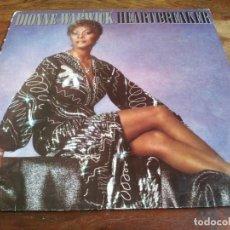 Discos de vinilo: DIONNE WARWICK - HEARTBREAKER - LP ORIGINAL ARISTA HOLANDA 1982 CON ENCARTE EN BUEN ESTADO. Lote 295715498