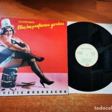 Discos de vinilo: ORQUESTA MONDRAGON ELLOS LAS PREFIEREN RUBIAS MAXI SINGLE VINILO 1987 JAVIER GURRUCHAGA 3 TEMAS RARO. Lote 295716208