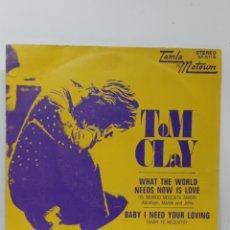 Discos de vinilo: TOM CLAY, WHAT THE WORLD... (T.MOTOWN 1971, PROMO). Lote 295717073