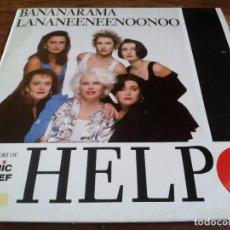 Discos de vinilo: BANANARAMA - HELP - MAXISINGLE ORIGINAL LONDON ESPAÑA 1989 BUEN ESTADO. Lote 295720968