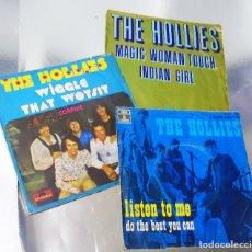 Discos de vinilo: LOTE DE TRES VINILOS THE HOLLIES VINILOS MINT / PORTADAS VG +. Lote 295724888