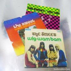 Discos de vinilo: LOTE DE TRES VINILOS THE SWEET ---VINILOS MINT / PORTADAS NEAR MINT. Lote 295725393