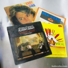 Discos de vinilo: LOTE DE CUATRO VINILOS BEE GEES + ANDY GIBB ---VINILOS MINT / PORTADAS VG ++. Lote 295726308
