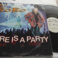 Discos de vinilo: DJ BOBO – THERE IS A PARTY-LP-ESPAÑA-1995-. Lote 295729188