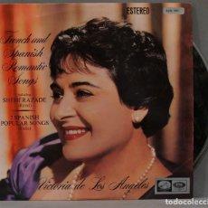 Discos de vinilo: LP. FRENCH AND SPANISH ROMANTIC SONGS INCLUDING SHÉHÉREZADE. RAVEL. 7 SPANISH POPULAR SONGS. FALLA. Lote 295732248