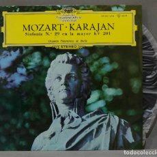 Discos de vinilo: LP. MOZART. KARAJAN. BERLINER PHILHARMONIKER. SINFONIA NR. 29 KV 201. Lote 295732413
