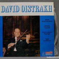 Discos de vinilo: LP. PLAYS KHACHATURIAN. CONCIERTO PARA VIOLIN Y ORQUESTA. OISTRAKH. Lote 295732558