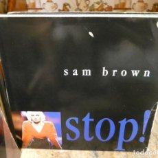 Discos de vinilo: CAJJ151 MAXI SINGLE HOUSE DISCOTECA ESTADO DECENTE SAM BROWN STOP 1988. Lote 295732698