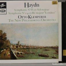 "Discos de vinilo: LP. SYMPHONIES. NO. 88 IN G MAJOR. NO. 104 IN D MAJOR ""LONDON"". HAYDN. KLEMPERER. Lote 295732758"