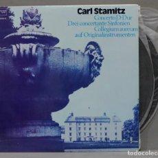 Discos de vinilo: 2 LP. CARL STAMITZ. FRANZJOSEF MAIER. COLLEGIUM AUREUM. CONCERTO D-DUR UND 3 SINFONIEN. Lote 295735468
